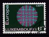 TIMBRE OBLITERE DU LUXEMBOURG - EUROPA 1970 N° Y&T 758
