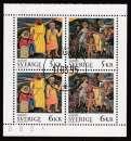 miniature FEUILLET OBLITERE DE SUEDE - EUROPA 1995 : PAIX ET LIBERTE N° Y&T 1853 A 1856