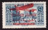 miniature Grand Liban 1928-30  PA Y&T 37 *  timbres de 1925 surcharge bilingue
