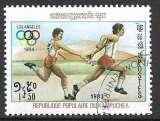 Kampuchea 1983 Y&T 366 oblitéré - Jeux olympiques de Los Angeles - Course relais