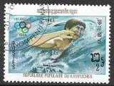 Kampuchea 1983 Y&T 367 oblitéré - Jeux olympiques de Los Angeles - Natation