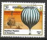Kampuchea 1983 Y&T 395 oblitéré - Ballon à hydrogène de 1783