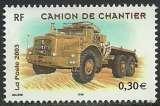 miniature France 2003 - Camion de chantier - N° 3615 oblitéré .