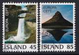 miniature PAIRE OBLITEREE D'ISLANDE - EUROPA 1975 : PAYSAGES N° Y&T 475/476