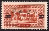 miniature Grand Liban 1926 Y&T 75 ** Beit ed Dine 3 pi 50 sur 0 pi 75
