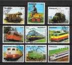miniature Paraguay 1979 -Y&T 1807 à 1813 + PA 853 et 854 (o) - 100 ans de trains électriques