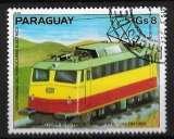 miniature Paraguay 1979 - Y&T 1812 (o) Cent ans de trains électriques