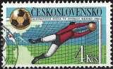 miniature Tchécoslovaquie 1986 - Coupe du Monde de football au Mexique ( Mi 2862 - YT 2676 )