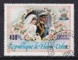 miniature TIMBRE OBLITERE DE HAUTE-VOLTA - MARIAGE DU PRINCE CHARLES ET DE LADY DIANA SPENCER N° Y&T PA 240