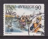 miniature TIMBRE OBLITERE DE SUEDE - JAMBOREE INTERNATIONAL EN NORVEGE : SCOUTS MARINS N° Y&T 900