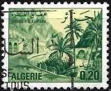 miniature Algérie 1977 - Gorges de El Kantara ( Mi 695A - YT 657 )
