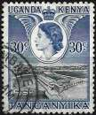 miniature Kenya-Ouganda-Tanganyka 1954 - Barrage d'Owen Falls ( Mi 96 - YT 93 )