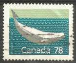 miniature Canada - 1990 - Y&T n° 1127 - Obli. - Béluga - Delphinapterus leucas - Mammifères - Série courante