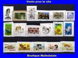 miniature FRANCE - Oblitéré sur fragment - Lot de 17 timbres - TCA 009