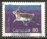 miniature Canada - 1990 - Y&T n° 1172 - Obli. - Caribou de Peary - Mammifères - Série courante