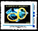 miniature France 2009 Série Montimbreamoi Noces de Diamant ( Tirage 120 Exemplaires )