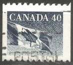 miniature Canada - 1990 - Y&T n° 1174 - Obli. - Drapeau national - Série courante