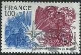 miniature France 1976 - Corps des officiers de réserve - 1890 oblitéré .