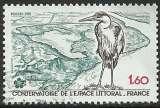 miniature France 1981 - Oiseau - Héron - 2146 oblitéré .