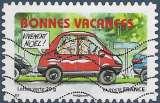 miniature FRANCE 2015 : yt 1145 Oblitéré/Used # Bonnes vacances - vivement noël