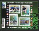 Année 2011 : Bloc Feuillet N° F 4576 ** Coupe du Monde de rugby 2011