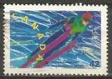 miniature Canada - 1992 - Y&T n° 1229 - Obli. - Saut à skis - Jeux Olympiques d'hiver  1992 - Alberville