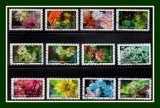 miniature N° 1707 à 1718 série complète LV Eclosion 2019 Obl. Fleurs