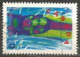 miniature Canada - 1992 - Y&T n° 1232 - Obli. - Bobsleigh à deux - Jeux Olympiques d'hiver 1992 - Alberville