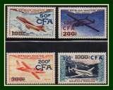miniature Réunion CFA N° PA 52 à 55 ** MNH (cote 110 €) série complète TB