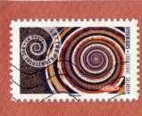 miniature France2014 : AA927 coquillage solarium  Mouvement en spirale  oblitéré