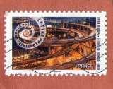 miniature France2014 : AA932 échangeur du pont manpu Shanghai Mouvement en spirale  oblitéré