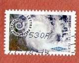 miniature France2014 : AA934 cyclone ingrid Mouvement en spirale  oblitéré