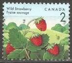 miniature Canada - 1992 - Y&T n° 1263 - Obli. - Fraise des bois - Baies sauvages - Série courante