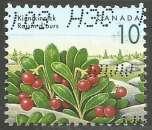 miniature Canada - 1992 - Y&T n° 1267 - Obli. - Raisin d'ours - Baies sauvages - Série courante