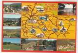 miniature Cpm 88  Vosges du Nord carte géographique , multivues
