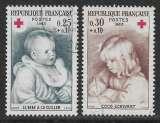 miniature FRANCE 1965  YT 1466 / 1467 oblitérés - Croix-Rouge