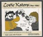 Etiquette de Bière - Belgique - Lowie Kators (1966 - 1986) - 75 cl - Brie d'Achouffe - Neuve