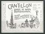 Etiquette de Bière - Belgique - Lambic de Raisin - Brie Cantillon - 75 cl - Neuve