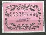 Etiquette de Bière - Belgique - Framboise - 37.5 / 75 cl - Brie Cantillon - Neuve