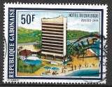 miniature Gabon 1975 Y&T 341 oblitéré - Hotel du Dialogue