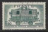 miniature FRANCE 1944  YT 609 oblitéré - Centenaire du Service postal ambulant (1844)