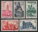 miniature FRANCE 1947 Y&T 772 / 776 oblitérés - Cathédrales et basiliques