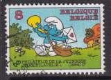 miniature TIMBRE OBLITERE DE BELGIQUE - LE SCHTROUMPF FACTEUR N° Y&T 2150