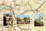 miniature Carte du Haut-Lac LEMAN et de la Vallée du Rhone