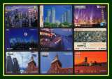 miniature 31 Télécartes PP Japon 4 SCANS Architecture moderne, villes,..TB