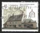 miniature Canada - 1998 - Y&T n° 1603 - Obli. - Maison à architecture régionale - Habitations canadiennes