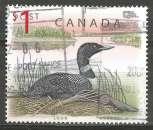 miniature Canada - 1998 - Y&T n° 1616 - Obli. - Le huard - Faune - Série courante