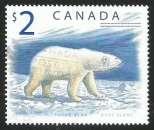 miniature Canada - 1998 - Y&T n° 1617 - Obli. - Ours blanc - Faune - Série courante