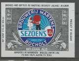 Etiquette de Bière - Belgique - Sezoens Belgian Ale - 25 cl - Brie Martens- Neuve