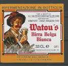 miniature Etiquette de Bière - Belgique - Watou's Birra Blanca - 33 cl - Brie Van Eecke - Neuve